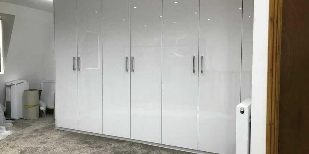 White Gloss Modern Wardrobe Hackney E9 Form Creations